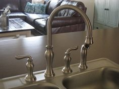 How to change a faucet!  Great way to update a bathroom or kitchen!  Easier than you think!