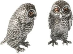 Vagabond House Pewter Owl This set is made of solid pewter and is handcrafted. The eyes are made of glass. http://theceramicchefknives.com/owl-salt-and-pepper-shakers/   baby shower favors, Big Sky Carvers Owl salt and pepper shakers, Cozy Owls Magnetic Ceramic Salt and Pepper Shaker Set, Cozy Owls Magnetic Salt and Pepper Shaker Set, Grasslands Road Owl in Tree Magnetic Salt and Pepper Shaker Set, Kate Spade New York Woodland Park Owl Salt & Pepper Set