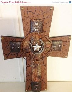 20off Sale Barbwire Cross by TheCrossedCupcake on Etsy, $24.00