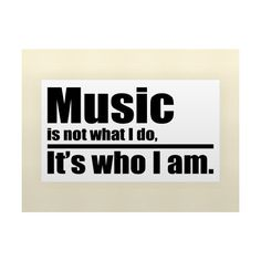 Music Is Not What I Do It's Who I Am Vinyl Wall Lettering Stickers... ❤ liked on Polyvore