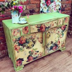 Chalk Paint TM by Annie Sloan chest of drawers in Antibes and Old Ochre by Deborah Meredith.