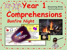 This resource contains 4 comprehension activities suitable for using with year 1 or lower ability year They each contain a short piece of text with word. Bonfire Night Safety, Bonfire Night Guy Fawkes, Bonfire Night Food, Gunpowder Plot, Key Stage 1, Comprehension Activities, Working With Children, Teaching Resources, Activities For Kids