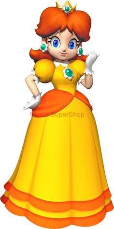 princess daisy super mario wall decal - Google Search