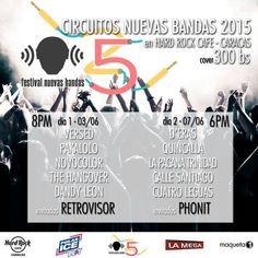 Cresta Metálica Producciones » Circuito Nuevas Bandas de Caracas en Hard Rock Café Caracas el 3 y 7 de junio