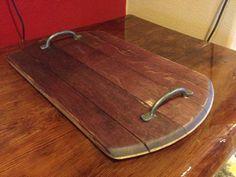 Napa valley wine barrel stave serving tray on Etsy, $49.00