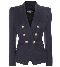 Buy it now. Wool Blazer. Navy Wool Blazer By Balmain , americana, americana, blazer, levita, levita, americanas, americanabásica, blezer, blazerdepunto, frock-coat. Navy Balmain  blazer  for woman.