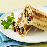 Crispy Bean & Cheese Burritos - reduce cheese & use whole grain tortillas