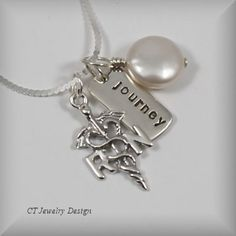 Hand Stamped Personalized RN Nurse with Journey by CTJewelryDesign, $49.00
