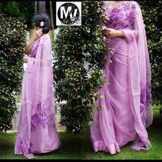 Organza Saree, Silk Sarees, Georgette Sarees, Saris, Saree Wedding, Wedding Wear, Wedding Bride, Wedding Ceremony, Beautiful Saree