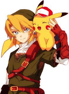 「版権詰め【腐向け】」/「ヤモノアキ」の漫画 [pixiv] Link & Pikachu