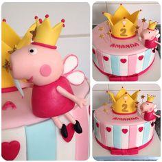 Peppa Pig hada...o reina? Diseño original no es mío, lamentablemente desconozco al autor #peppapig # - tortas_decotortas