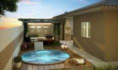 Risultati immagini per piscina pequena com deck e churrasqueira