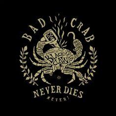 Bad Crab / Stepart on Behance Creative Typography, Vintage Typography, Typography Letters, Typography Logo, Graphic Design Typography, Lettering Design, Graphic Design Illustration, Logo Design, Logos