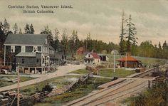 Cowichan Station, Vancouver Island, British Columbia  Cowichan Station along the Esquimalt; Nanaimo Railway, south of Duncan, on southern Vancouver Island, BC.