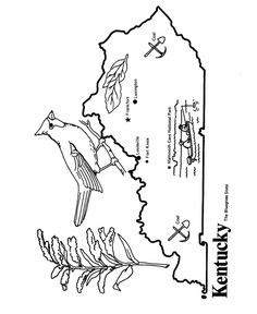 Kentucky State Outline Coloring Page Copy Image And Paste Into Word