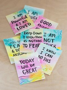 DIY: Watercolor Affirmation Cards | http://adventures-in-making.com/diy-watercolor-affirmation-cards/ #inspirational