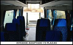 Interior Microbus 19 plazas Adaptado