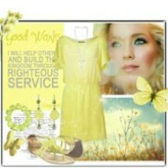 """LDS YW Value - Good Works"" fashion board - I like the idea of this for the board Mutual Activities, Young Women Activities, Personal Progress Projects, Book Of Mormon Stories, Young Women Values, Church Quotes, Churches Of Christ, Girls Camp, Just In Case"