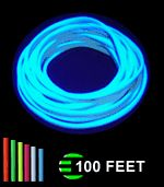 Flexible neon strip landscape glow el wire rope light party car glo line uv reactive black light luminescent rope at blacklight aloadofball Gallery