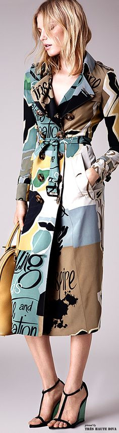 ...don't really care about labels, but I'm in love with this pattern! Burberry Prorsum Resort 2015