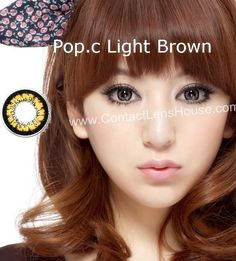 Pop.c Light Series - Brown color cosmetic lens. | Shop @ ContactLensHouse.com