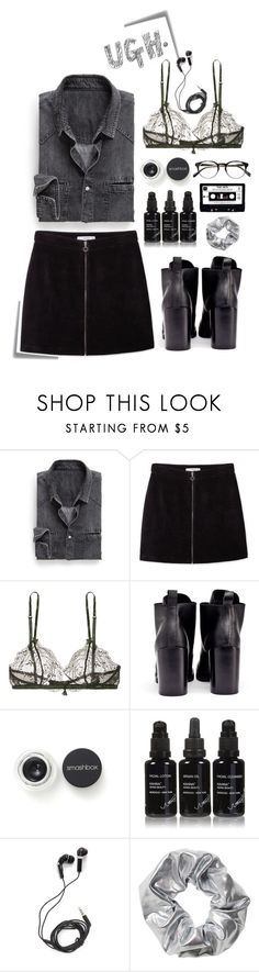 """""""Black. Colour of mystery and mortality"""" by magi-418 ❤ liked on Polyvore featuring Post-It, Prada, MANGO, Heidi Klum Intimates, Cheap Monday, Smashbox, Kahina Giving Beauty, DEOS and Monki"""