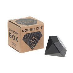 Based in the Williamsburg neighborhood of Brooklyn, Areaware is dedicated to highlighting the best in American design from a cross section of artists with one common goal: to fuse function and beauty. Created by fellow Brooklynite, design studio Fort Standard, this diamond-shaped beechwood box is a clever way to stash little treasures like, say, <i>real</i> diamonds. <ul><li>Import.</li></ul>
