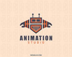 The Animation is an abstract logo in the shape of a robot.(game, animation, video game, movie production, robotics, robot, abstract, android, tech, cyborg, logo for sale, logotipo, logo design, logo).