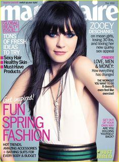 Zooey Deschanel Talks Bullies & Dating With 'Marie Claire'