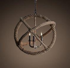 rope chandelier, Restoration Hardware