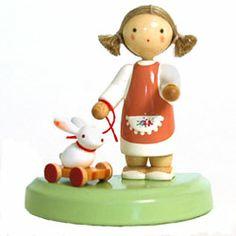 Werkstaetten Flade ~ Girl with Toy Rabbit