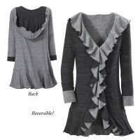 Black and Gray Reversible Hooded Jacket Pyramidcollection.com