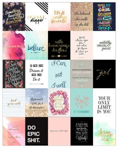 Quotes Planner Stickers https://www.etsy.com/listing/258015774/goal-quotes-planner-stickers