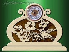 Scroll Saw Patterns :: Clocks :: Other clocks :: Hummingbird clock -