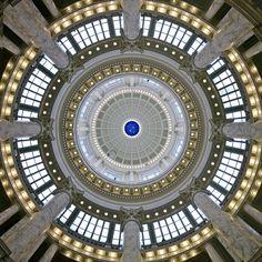 Idaho 'Squircle'? ...    Looking up under the rotunda of the Idaho Capitol Building