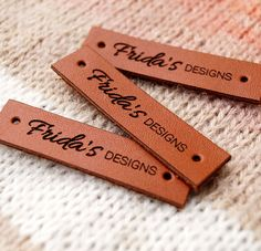Leather labels custom garment labels personalized labels