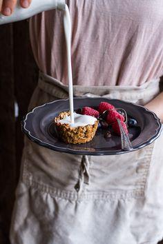 Oatmeal Chocolate Chip Cookie 'n' Milk Breakfast Cups | halfbakedharvest.com