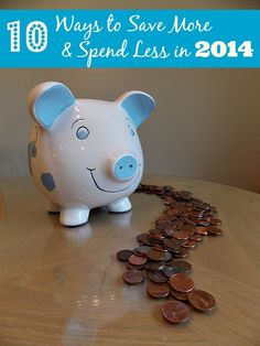 10 Ways to Save More and Spend Less in 2014 via www.jmanandmillerbug.com #Finance
