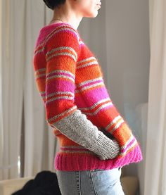 Ravelry: Reds pullover/jumper by knitter extraordinaire rililie (pattern coming soon)