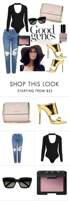 """You're my next mistake."" by alessandra-aspilcueta on Polyvore featuring Givenchy, Giuseppe Zanotti, Topshop, Yves Saint Laurent, NARS Cosmetics and Bobbi Brown Cosmetics"