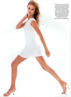 US Vogue May 1994 Model Bridget Hall  Swing Shift Photo Steven Meisel  Editor Grace Coddington  Hair Garren  Makeup Denise Markey