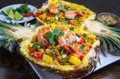 Pineapple and Shrimp Fried Quinoa A tasty Thai style shrimp and pineapple fried rice made with quinoa.