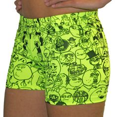 SVFORZA Meme Spandex Volleyball Shorts   2.5'' Inseam - available XS-L