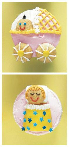 Cute Cupcakes for a Baby Shower #cupcakeideas #babyshowerideas