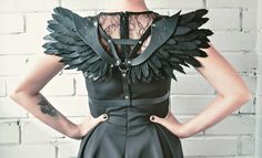 Women Harness Leather Harness With Wings by WaterFallWorkshop