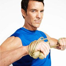 ab workout from tony horton (P90x dude)... SO HARD. I'm gonna keep at it until it isn't though :D