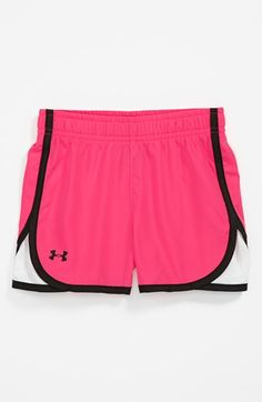 Under Armour Mesh Panel Shorts (Toddler Girls) | Nordstrom - RUNNING CLOTHES!