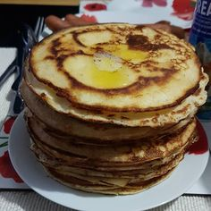My husband has out done himself this year. First pancake day as a family of three! Family Of Three, Pancake Day, Pancakes, Husband, Posts, Breakfast, Food, Morning Coffee, Messages