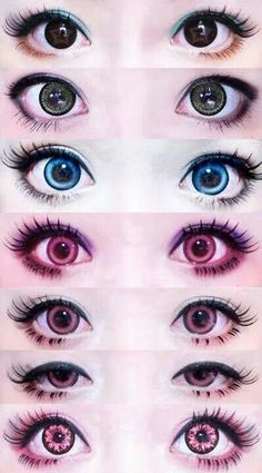 The eye color at the very bottom is what im gonna die my eyes to, or crimson