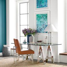Mason Glass Top Desk | Williams-Sonoma